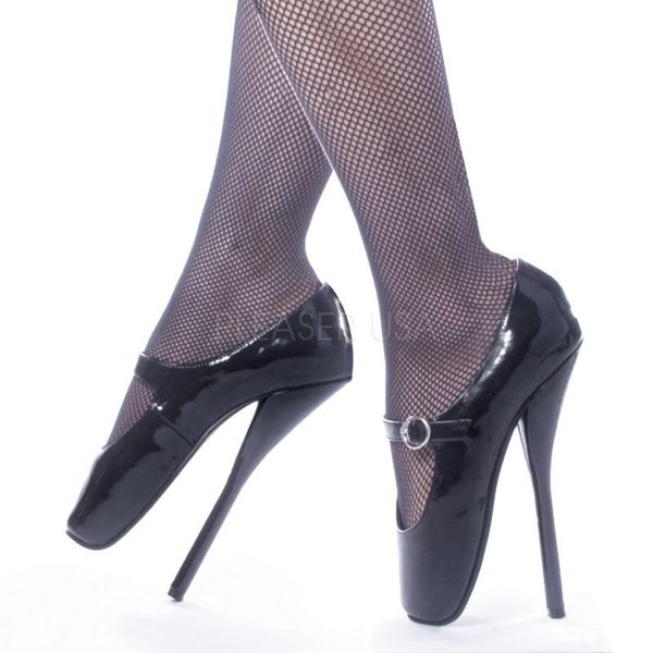 Ballett High Heel Pumps BALLET-08 schwarz Lack